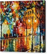 The Tears Of The Fall - Palette Knife Oil Painting On Canvas By Leonid Afremov Acrylic Print