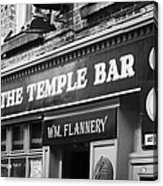 The Temple Bar Pub In Temple Bar Tourist Nightlife Area In Central Dublin Acrylic Print