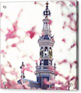 The Temple Bell Dies Away 1. Pink Spring In Amsterdam Acrylic Print