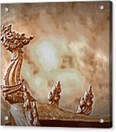 The Temple Dragon Acrylic Print