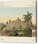 The Temple Of Buddha Of Borobudur In Java Acrylic Print