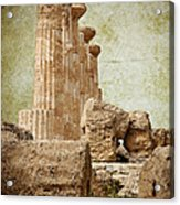 The Temple Of Heracles Acrylic Print