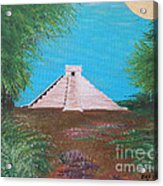 The Temple Of Kukulcan Acrylic Print