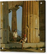 The Temple Of Poseidon. Paestum Acrylic Print