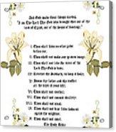 The Ten Commandments Acrylic Print by Anne Norskog