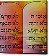 The Ten Commandments - Featured In Comfortable Art Group Acrylic Print