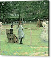 The Tennis Party Acrylic Print