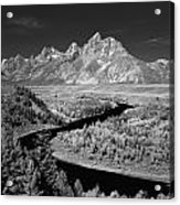 309217-the Teton Range From Snake River Overlook Acrylic Print