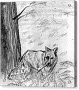 The Teutonic Fox Acrylic Print