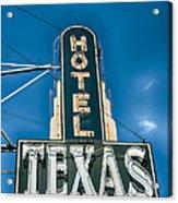 The Texas Hotel Acrylic Print