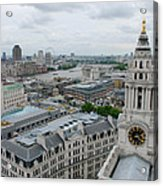 The Thames From St Paul's Acrylic Print