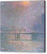 The Thames With Charing Cross Bridge Acrylic Print