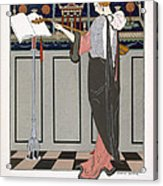 The Theorbo Player Acrylic Print by Georges Barbier