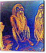The Three Apes Are Discussing Important Matters  Acrylic Print