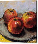The Three Apples Acrylic Print