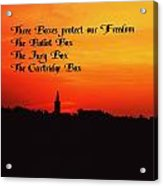 The Three Boxes Acrylic Print
