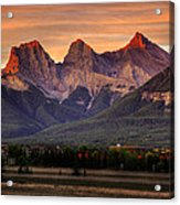The Three Sisters Canmore Acrylic Print