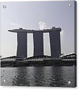 The Three Towers Of The Marina Bay Sands In Singapore Acrylic Print