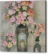 The Three Vases Acrylic Print by Good Taste Art