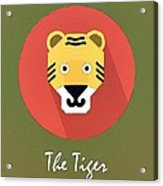 The Tiger Cute Portrait Acrylic Print