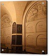The Tombs At Les Invalides - Paris France - 011335 Acrylic Print