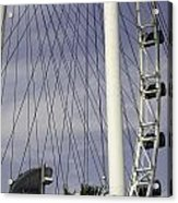 The Top Section Of The Marina Bay Sands As Seen Through The Spokes Of The Singapore Flyer Acrylic Print