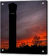 The Tower @ Dawn - Square Silhouette Acrylic Print