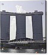 The Towers Of The Iconic Marina Bay Sands In Singapore Acrylic Print