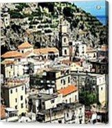The Town Of Minori Acrylic Print by H Hoffman