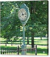 The Town's Clock Acrylic Print