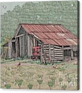 The Tractor Barn Acrylic Print