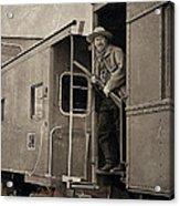 The Train Robber Acrylic Print