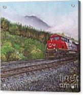 The Train West Acrylic Print