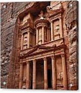 The Treasury In Petra Jordan Acrylic Print