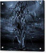 The Tree Of Sawols Cyanotype Acrylic Print