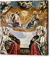 The Trinity Adored By The Duke Of Mantua And His Family Acrylic Print
