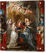 The Triptych Of Saint Ildefonso Altar Acrylic Print