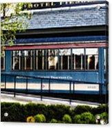 The Trolley Stop - Hotel Fiesole Acrylic Print