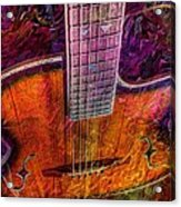 The Tuning Of Color Digital Guitar Art By Steven Langston Acrylic Print