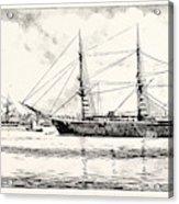 The Turkish Frigate Ertogrul Lost Off The Coast Of Japan Acrylic Print
