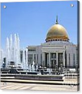 The Turkmenbashi Palace In Independence Square In Ashgabat Turkmenistan Acrylic Print