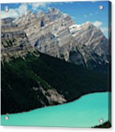 The Turquoise Colored Peyto Lake Acrylic Print