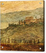 The Tuscan Landscape Near Pienza Acrylic Print