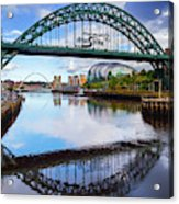 The Tyne Road Bridge With The Sage Acrylic Print