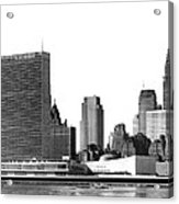 The Un And Chrysler Buildings Acrylic Print