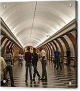 The Underground 1 - Victory Park Metro - Moscow Acrylic Print