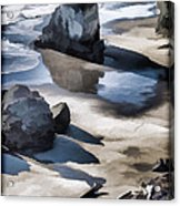 The Unexplored Beach Painted Acrylic Print