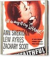 The Unfaithful, Us Poster, Ann Acrylic Print