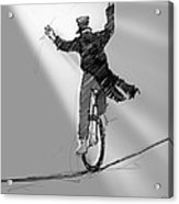 The Unicyclist  Acrylic Print