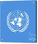 The United Nations Flag  Authentic Version Acrylic Print